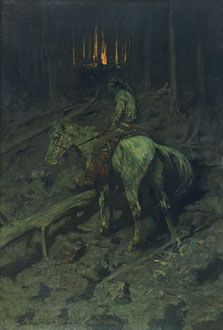 Learn more about Apache Fire Signal Frederic Remington - oil artwork, painted by one of the most celebrated masters in the history of art. Frederic Remington, Native American Art, American Artists, American Indians, Apache Indian, Native Indian, Native Art, Man Cave Art, Into The West