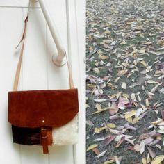 MalaReborn feita a partir de materiais reaproveitados! Tecidos e couro.