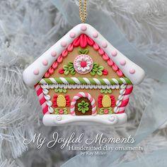 Handcrafted Polymer Clay Gingerbread House por MyJoyfulMoments