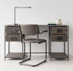 RH TEEN's Wexler Storage Desk:Our collection's minimalist metal frame…