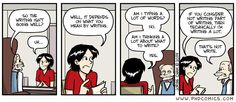 """Not write,"" a PHD comic by Jorge Cham. Phd Comics, Phd Humor, Masters Thesis, Writing Humor, Writing Motivation, Phd Student, Academic Writing, Comic Strips, Words"