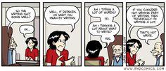 """Not write,"" a PHD comic by Jorge Cham."