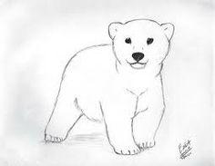 adorable baby polar bear tattoo idea