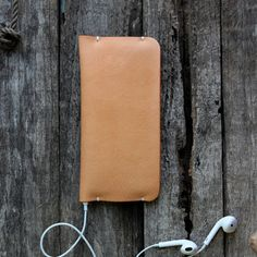 Handcrafted Smart Side Open Leather iPhone 6/6 6S/6S by unidostore