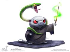 Daily Paint 1761# Vole-demort  Daily Paintings Book now available: http://ForgePublishing.com/shop  For full res WIPs, art, videos and more: https://www.patreon.com/piperdraws  Twitter • Facebook • Instagram • DeviantART