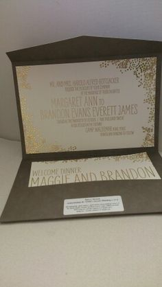 Gorgeous gold and Brown invitation from smock, stocked by Pretty as a picture Hipster Design, Gold Wedding, Big Day, Wedding Invitations, Peach, Chocolate, Brown, Cake, Pretty