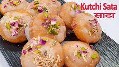 साटा हमारी पाऱमपारीक रेसिपी Sata Kutchi Gujarati Traditional Sweet Recipe - YouTube Gujarati Recipes, Indian Food Recipes, Ethnic Recipes, Sweets Recipes, Desserts, Indian Sweets, Flour Recipes, Food Hacks, Dishes