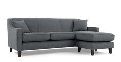 Halston Large Corner Sofa, Charcoal Weave