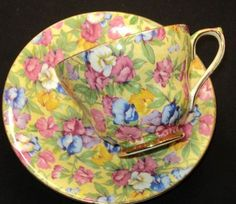 Bettina Royal Winton Sweet Pea-chintzz simplyTclub Tea cup and saucer