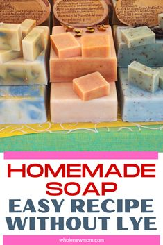 Handmade Soap Recipes, Soap Making Recipes, Handmade Soaps, Diy Soaps, Diy Savon, Homemade Soap Bars, Homemade Beauty Products, Back To Nature, Home Made Soap