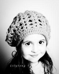 LOLA SLOUCHY BERET Baby-Adult Crochet