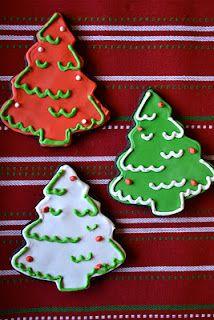Chocolate Christmas Tree Sugar Cookies