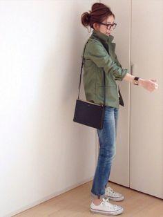 mayumiさんのスニーカー「CONVERSE CONVERSE CVS ALL STAR OX」を使ったコーディネート