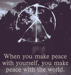 Make peace with self