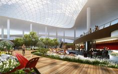 The Airports Of The Future Could Become Hi-tech Pleasure Domes | http://www.designrulz.com/design/2015/08/the-airport-of-the-future-could-become-hi-tech-pleasure-domes/