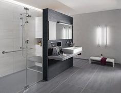 Elegant Badgestaltung Grau Weiß
