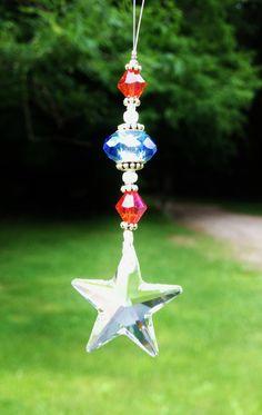Swarovski Crystal Star Patriotic Sun by LittleRedBirdStudio, $12.50