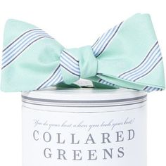 Collared Greens - Catalina Teal Bow Tie American Made, $35.00 (http://www.collaredgreens.com/products/catalina-teal-bow-tie-american-made.html/)