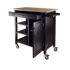 Wood Kitchen Island Cart Cabinets Rolling Wheel Furniture Storage Portable Table #WoodKitchenIsland