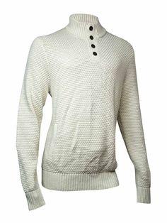 Tommy Hilfiger Men's Quarter-Button Knit Sweater (XL, Crème Brûlée)