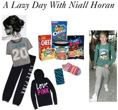 """A Lazy Day With Niall Horan"" by futureladydevil ❤ liked on Polyvore"
