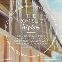 "Day 22- The Promise of Wisdom // ""Call to Me and I will answer you and tell you great and unsearchable things you do not know."" {Jeremiah 33:3} // 25 Days of Christmas Promises #incourageChristmas"
