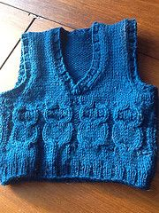 Ravelry: Four Owl Baby Vest pattern by The Fabulous E