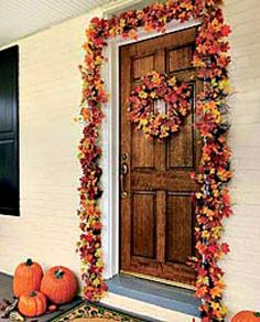 Fall decorating ideas ~ Garland and wreath