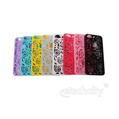 Hollow Out #Rose #Flower Design PC Back Case for #iPhone 5 [PC-PHRSE88] - $8.91