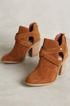 Suede booties, peep hole booties, high heel booties, casual booties