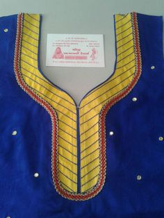 Chudithar Neck Designs, Salwar Neck Designs, Kurta Neck Design, Saree Blouse Neck Designs, Neck Designs For Suits, Dress Neck Designs, Designs For Dresses, Kurta Designs, Sleeve Designs