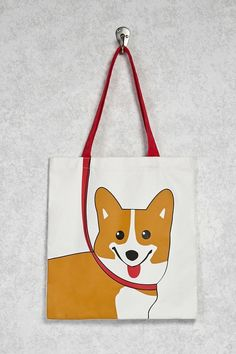 Tote your knickknacks around in a cheerful corgi canvas bag — what else would you possibly use? : Tote your knickknacks around in a cheerful corgi canvas bag — what else would you possibly use? Paper Bag Design, Fabric Bags, Pet Store, Cloth Bags, Dog Lover Gifts, Handmade Bags, Canvas Tote Bags, Sewing Projects, Corgi