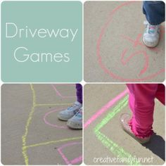 Driveway #Games ~ via Creative #Family Fun. #summer #activities