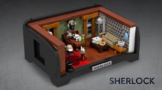 """An idea for a Lego set.  """"alternate/expanded version of the set, featuring Sherlock's couch and iconic wallpaper."""""""