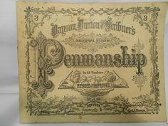 RARE 1870 National System Penmanship Practice Book for Teacher w Instruction | eBay seller goodneighbor2u;