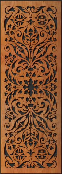 Flower Scroll pattern is adapted from a book of Elegant Historic Ornaments which dates back from the middle ages to the century. These patterns were used as motifs for inlays. Intricately laser cut from thick wood. Wood Wall Decor, Wooden Wall Art, Wood Art, Scroll Pattern, Scroll Saw Patterns, Pattern Art, Laser Cut Wood, Laser Cutting, Cnc
