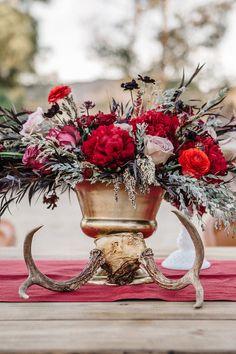 Equestrian wedding tablescape