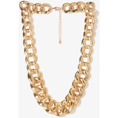 FOREVER 21 Curb Chain Necklace ($6.80) ❤ liked on Polyvore featuring jewelry, necklaces, accessories, forever 21 necklace, curb link chain necklace, forever 21 jewelry, curb link necklace and forever 21