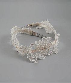 Lace head band http://www.etsy.com/shop/MaryNotMartha