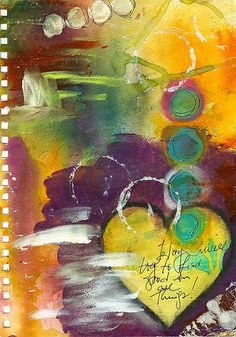 Good in all Things art journal page