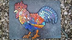Mosaic Cockerel Wall Plaque by MochaMosaics on Etsy