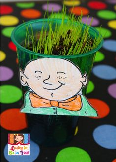 We planted our leprechauns this week & are anxiously awaiting more hair growth. Want to grow your own leprechaun heads? Click {here} for the leprechaun heads & growth chart. {Sorry, …
