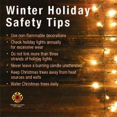 Winter Holiday Safety Tips