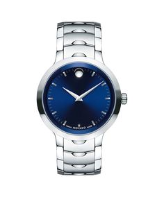 Movado Men's Swiss Luno Two-Tone Pvd Stainless Steel Bracelet Watch 0607043 - Black Movado Mens Watches, Sport Watches, Watches For Men, Men's Watches, Analog Watches, Stainless Steel Watch, Stainless Steel Bracelet, Watch Brands, Spring