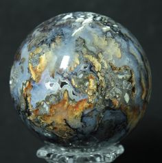 Grave Yard Point Agate Sphere available at www.RocknSpheres.com