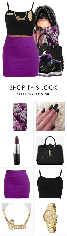 """Untitled #306"" by obeyakira ❤ liked on Polyvore featuring MAC Cosmetics, Yves Saint Laurent, Wet Seal, Topshop and Stührling"