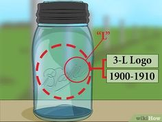 How to Date Old Ball Mason Jars. Ball mason jars are a type of home canning jar made by the Ball Corporation. The company started making mason jars back in and many people today still use these for canning, or collect the jars as a. Vintage Mason Jars, Blue Mason Jars, Bottles And Jars, Glass Bottles, Wine Bottle Crafts, Mason Jar Crafts, Mason Jar Diy, Ball Canning Jars, Ball Jars