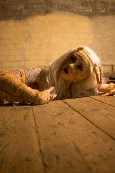 Mummy Awakens.  Model: Daisy Chainsaw Photographer: Jake Howe Make Up, Outfit: Daisy Chainsaw  Studio: The Pit Studio