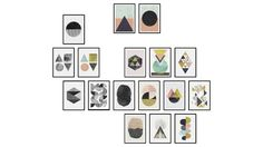 Large preview of 3D Model of Pictures - Abstract Prints
