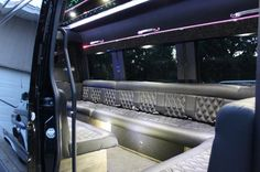 hey Look at that, it is Our Mercedes Benz Sprinter Limo. Classy limo that you can get in easily.
